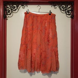 Christopher & Banks Size 10 Floral/Lace Skirt